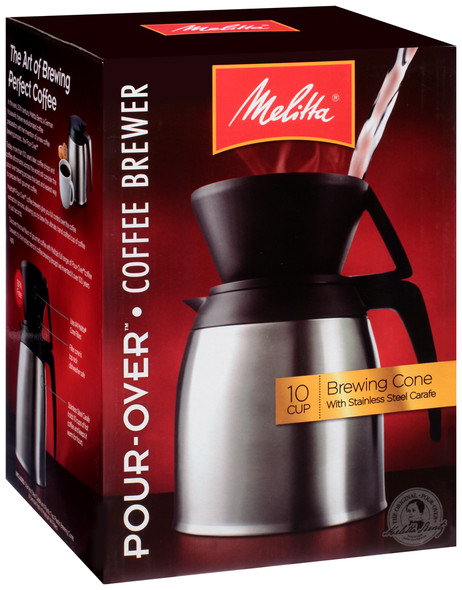 Melitta® Thermal Stainless Steel 10-Cup Pour Over Coffee Maker
