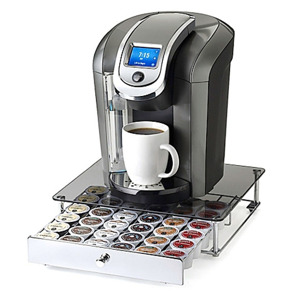 Nifty™ Keurig® K-cup® 36-Capacity Glass-Top Rolling Drawer