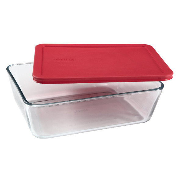 Pyrex® Storage Plus 11-Cup Rectangular Glass Bowl with Cover