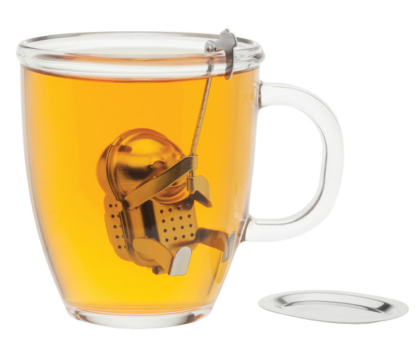 Stainless Steel Rock Climber Tea Infuser with Drip Tray