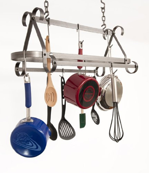 Enclume® Decor Collection Compact Scrolled Rack in Hammered Steel Finish