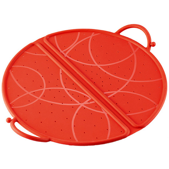 "Kuhn Rikon Foldable Silicone Splatter Guard 12"" - Red"