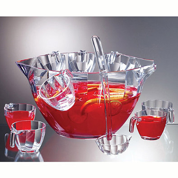 Prodyne Acrylic 12-Piece Punch and Salad Bowl Combo Set