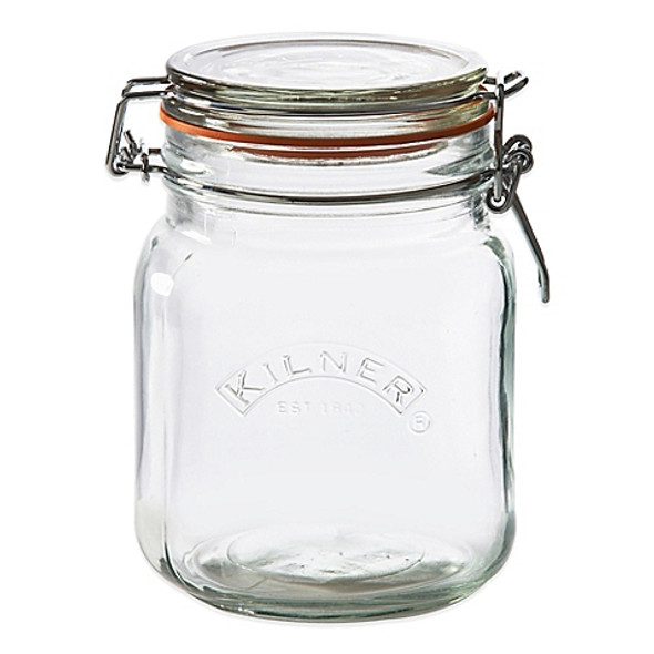Kilner® 34 oz. Square Clip Top Canning Jar
