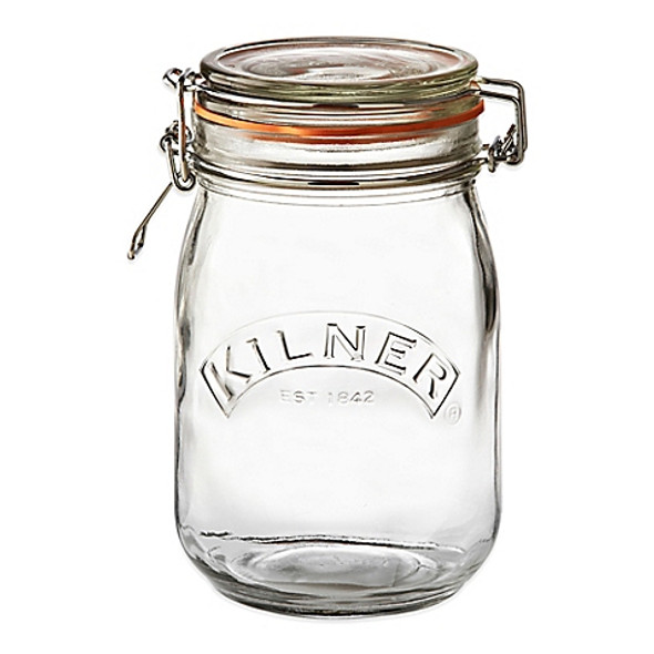 Kilner® 34 oz. Round Clip Top Canning Jar
