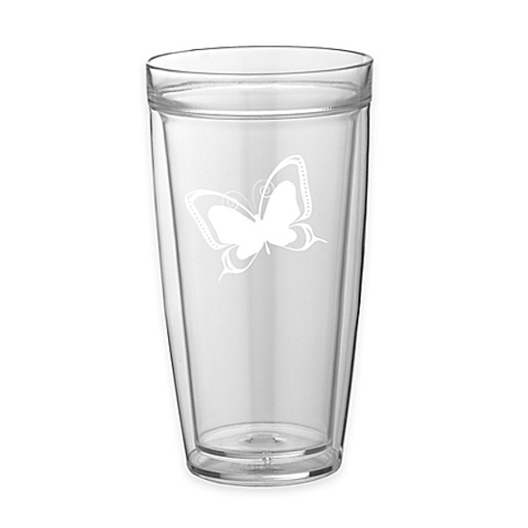 Kraftware™ Kasualware Butterfly Double-Wall Tall Glasses (Set of 4)