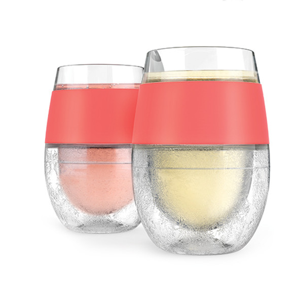 Wine FREEZE™ Cooling Cups in Coral (Set of 2) by HOST®