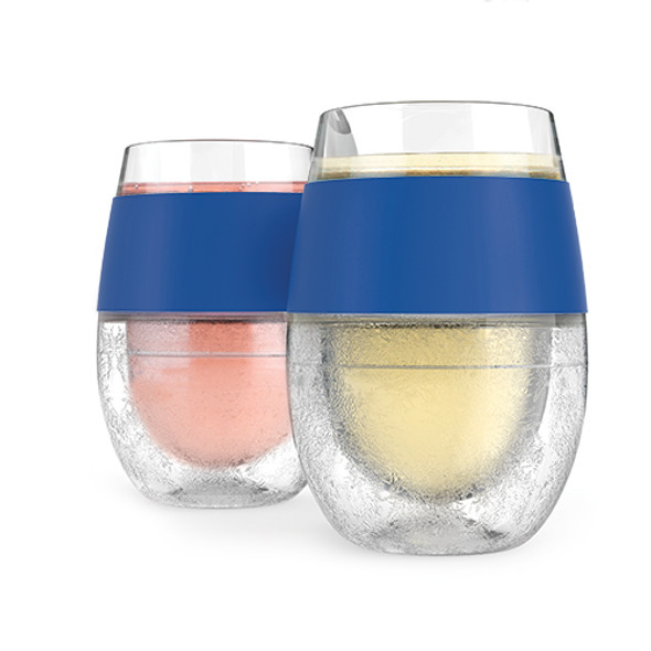 Wine FREEZE™ Cooling Cups in Blue (Set of 2) by HOST®