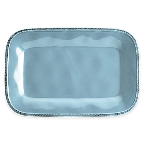 Rachael Ray™ Cucina Stoneware Rectangular Platter in Blue