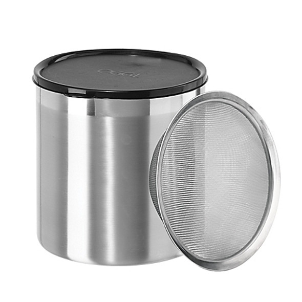 Oggi® 4 qt. Stainless Steel Jumbo Grease Can with Strainer and Cover