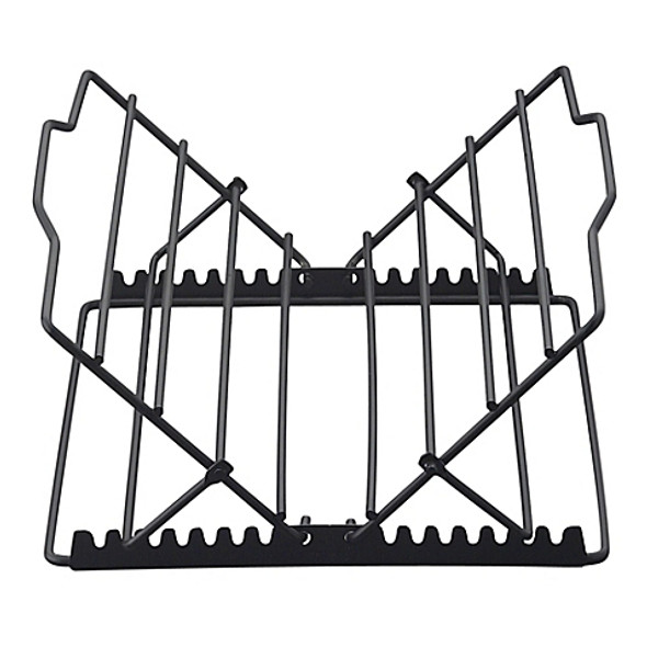 HIC Kitchen Adjustable Non-Stick Roasting Rack in Black