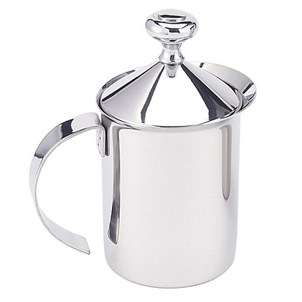 HIC 14 oz. Stainless Steel Milk Frother Pitcher with Handle and Lid