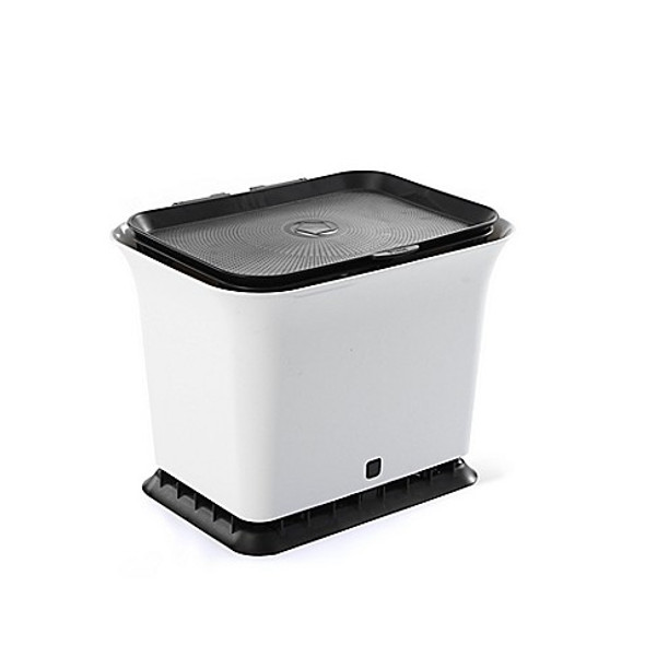 Full Circle Breeze Fresh Air Odor-Free 1.5-Gallon Kitchen Compost Collector in Black