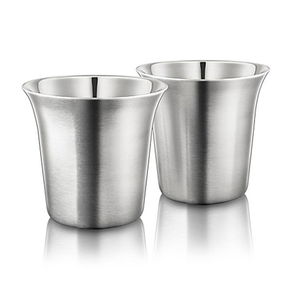 Final Touch® Double-Wall Espresso Cup in Stainless Steel (Set of 2)