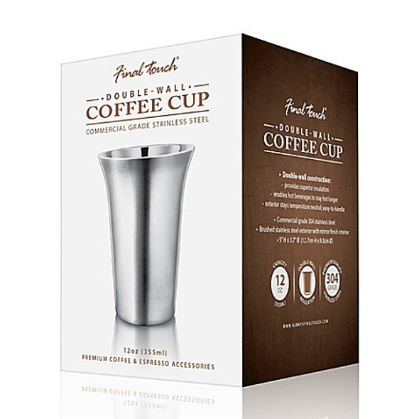 Final Touch® 12 oz. Double-Wall Coffee Cup in Stainless Steel