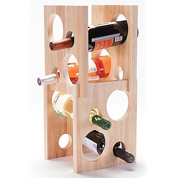 Oenophilia 8-Bottle Astro Wine Rack in Natural