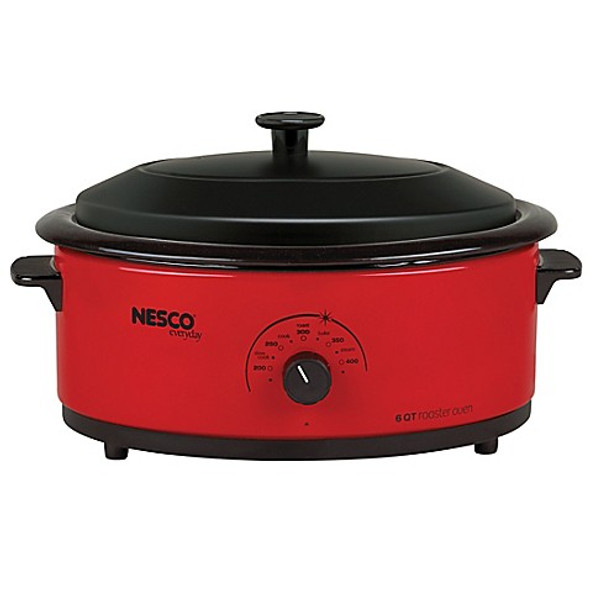 Nesco® 6-Quart Electric Roaster Oven in Red