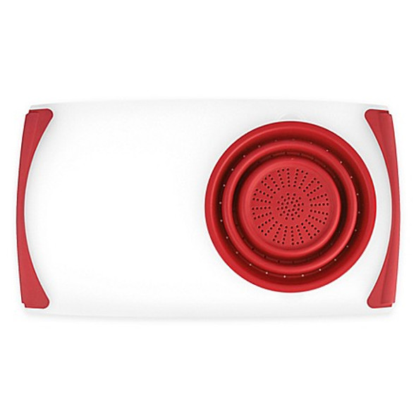Dexas® Over-the-Sink Strainer Board in Red