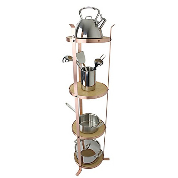 Enclume® 4-Tier Unassembled Round Stand in Brushed Copper