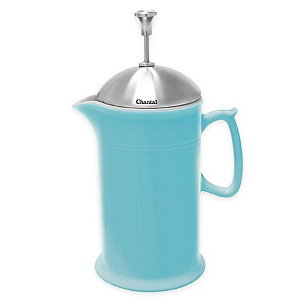 Chantal® 28 oz. Ceramic French Press in Aqua