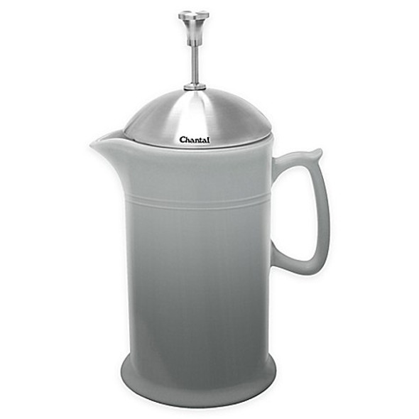 Chantal® 28 oz. Ceramic French Press in Grey
