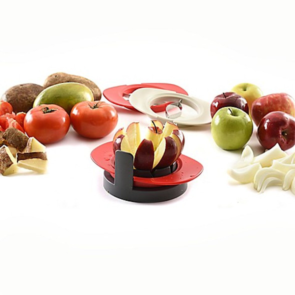 Norpro® Fruit Wedger and Corer Set with 3 Blades in Red
