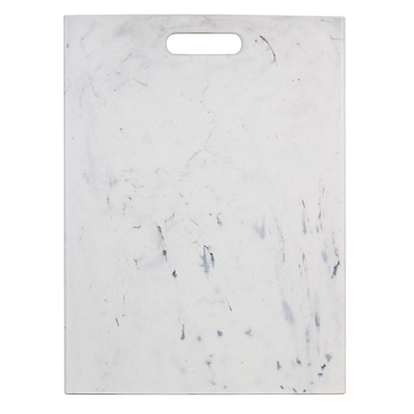 Architec 12-Inch x 16-Inch Marble-Look Polypropylene Cutting Board in White