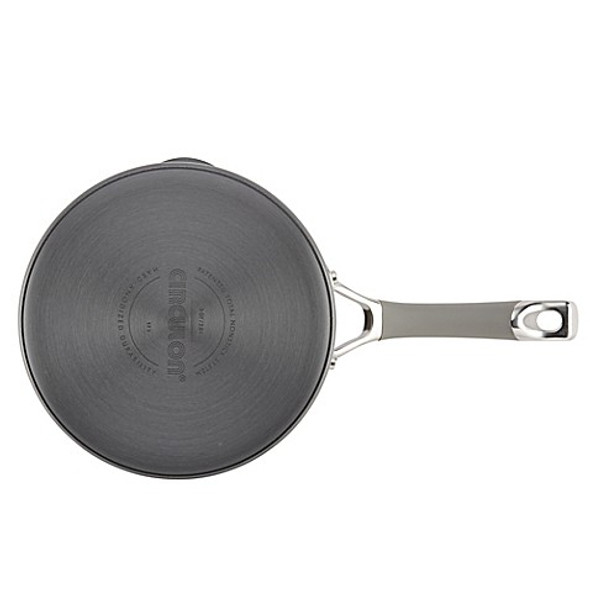 Circulon® Elementum™ 3 qt. Hard-Anodized Nonstick Covered Saucepan in Oyster Grey
