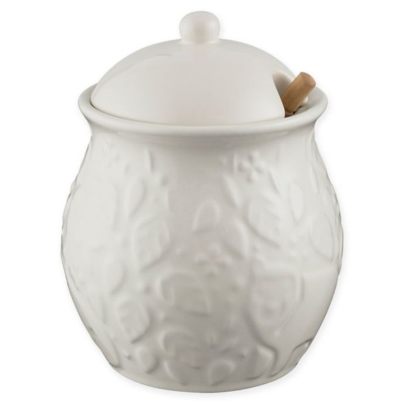 Mason Cash® In the Forest 16 oz. Honey Pot in Cream with Drizzler