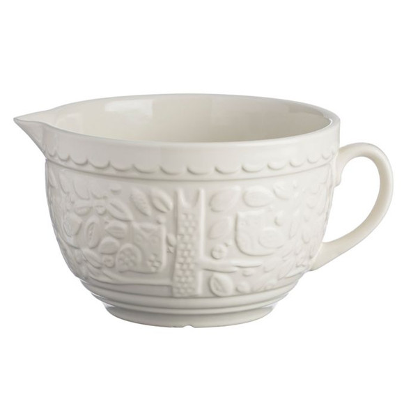 Mason Cash® In The Forest 9.75-Inch Stone Batter Bowl with Owl Embossment in Cream