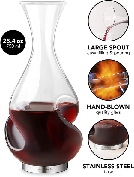 Final Touch 5-Piece L'Grand Conundrum Aerator Decanter Set