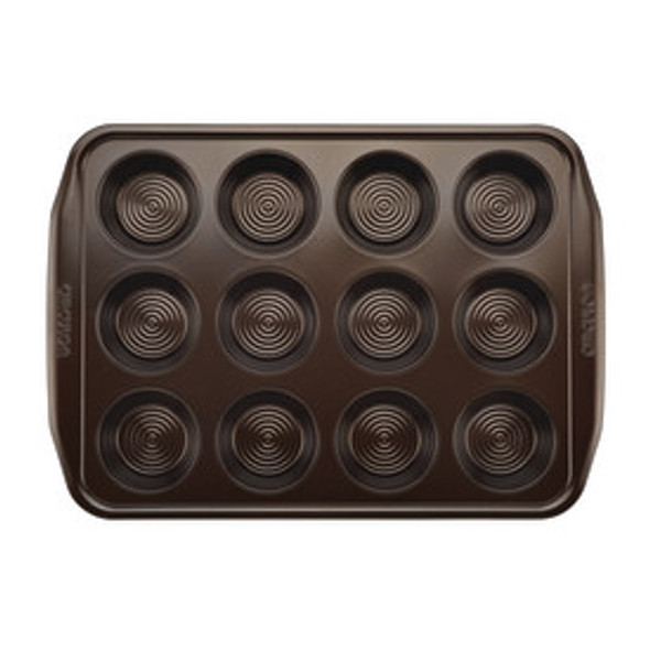 Circulon® Total Non-Stick 12-Cup Muffin Pan in Chocolate