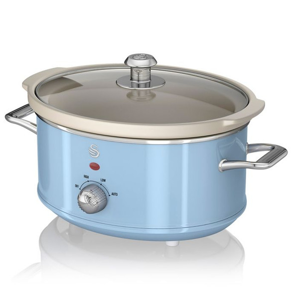 Swan® Retro Style 3.7 qt. Slow Cooker in Blue