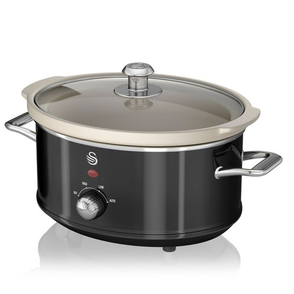 Swan® Retro Style 3.7 qt. Slow Cooker in Black
