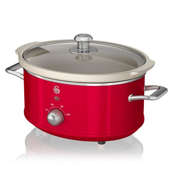 Swan® Retro Style 3.7 qt. Slow Cooker in Red