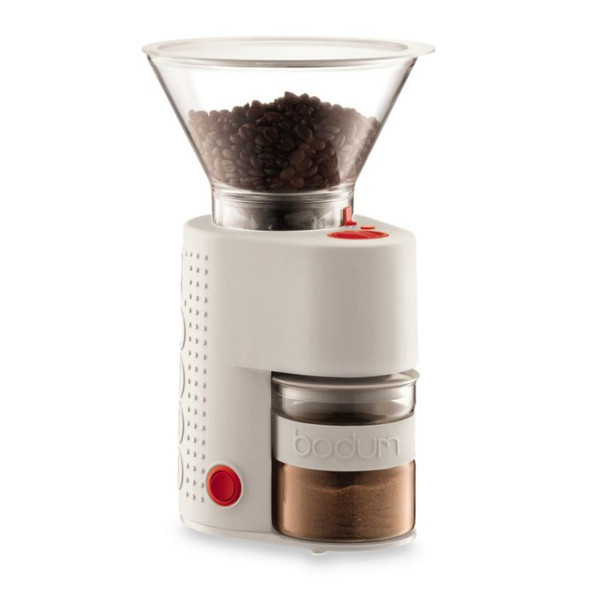 Bodum® Bistro Electric Burr Coffee Grinder in White