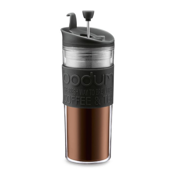 Bodum® 15 oz. Double-Wall Plastic Travel Coffee and Tea Press in Black