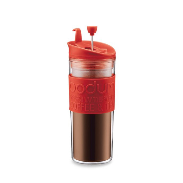 Bodum® 15 oz. Double-Wall Plastic Travel Coffee and Tea Press in Red