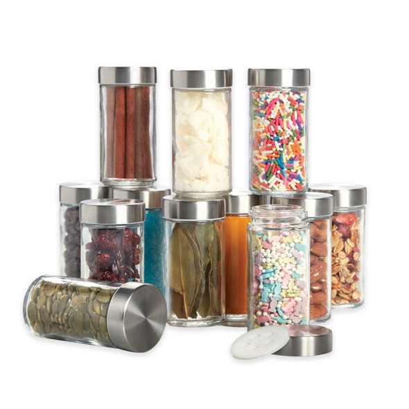 Kamenstein® 3 oz. Glass Canisters (Set of 12)