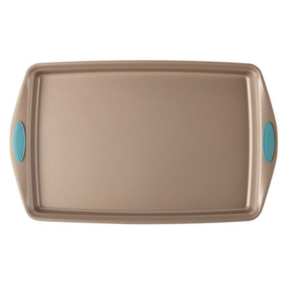 Rachael Ray™ Cucina Nonstick 11-Inch x 17-Inch Cookie Pan in Latte Brown/Agave Blue