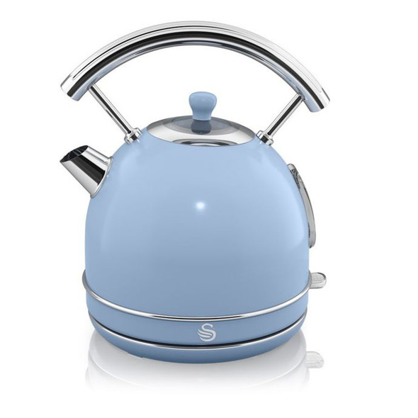 Swan® Retro Style 1.8 qt. Electric Dome Kettle in Blue