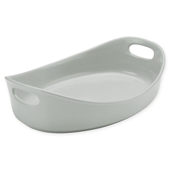 Rachael Ray™ Ceramics 4.5 qt. Bubble and Brown Oval Baker in Sea Salt Grey