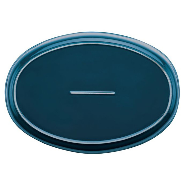 Rachael Ray™ Ceramics 4.5 qt. Bubble and Brown Oval Baker in Marine Blue