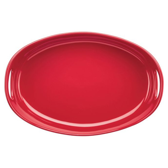 Rachael Ray™ Ceramics 4.5 qt. Bubble and Brown Oval Baker in Red