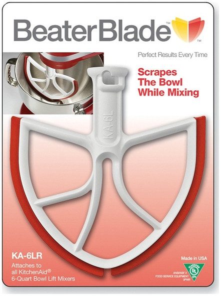 BeaterBlade for KitchenAid 6 Quart Bowl-Lift in Red