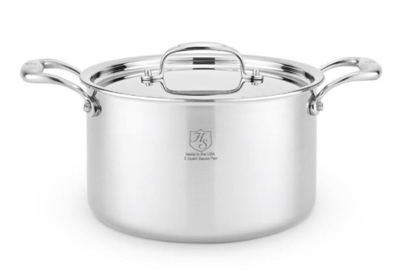 Hammer Stahl Heritage Steel 5 Qt Stock Pot with Cover