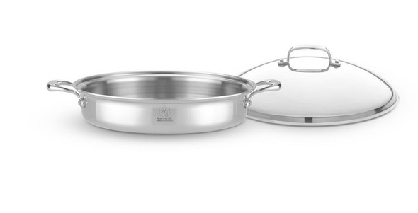 Hammer Stahl Heritage Steel 5-Qt Sauteuse With Lid