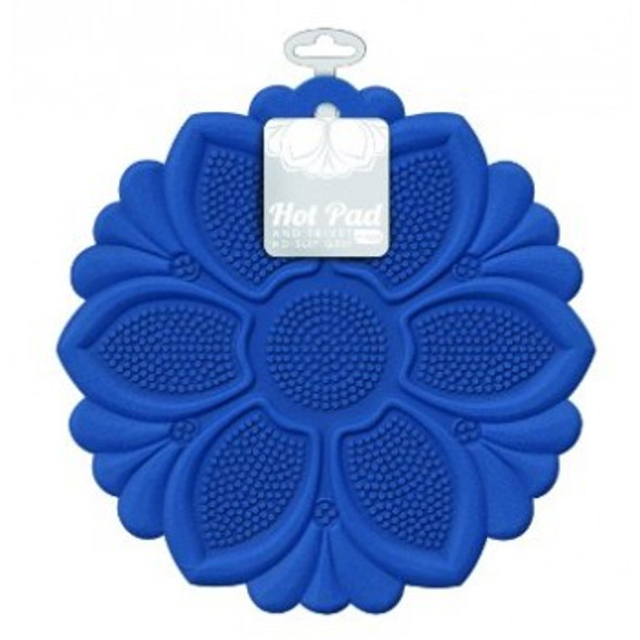 Talisman Designs Silicone Hot Pad & Trivet in Blue