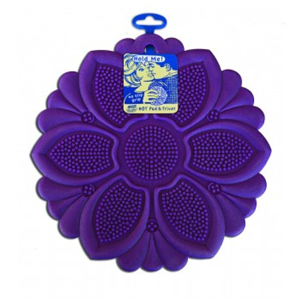 Talisman Designs Silicone Hot Pad & Trivet in Purple