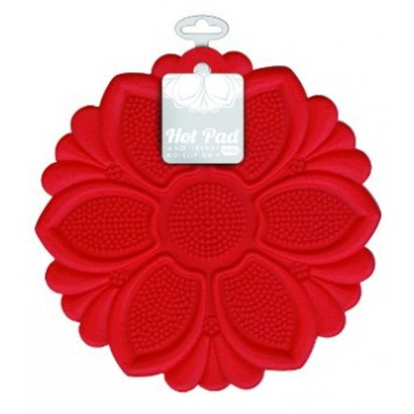 Talisman Designs Silicone Hot Pad & Trivet in Red